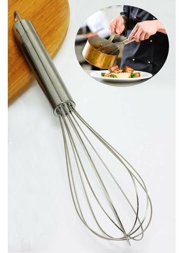 Kitchen Love Kitchen Love 25 cm Asma Bölmeli Paslanmaz Çelik Inox Çırpıcı Gümüş